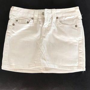 True religion denim mini skirt size 24